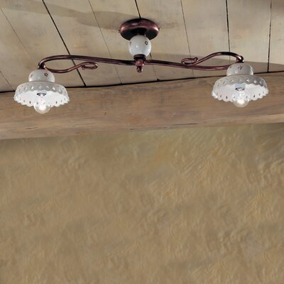 Ferroluce Perugia 2 Light Ceiling Light