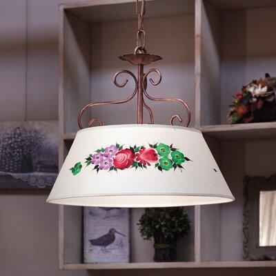 Ferroluce Salerno 2 Light Bowl Pendant Lamp