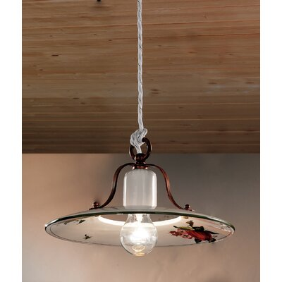 Ferroluce Bologna 1 Light Bowl Pendant Lamp