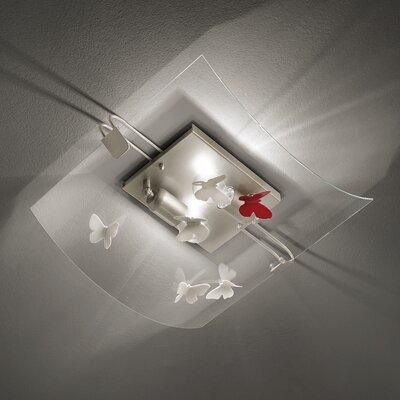 Ferroluce Alba 2 Light Flush Ceiling Light