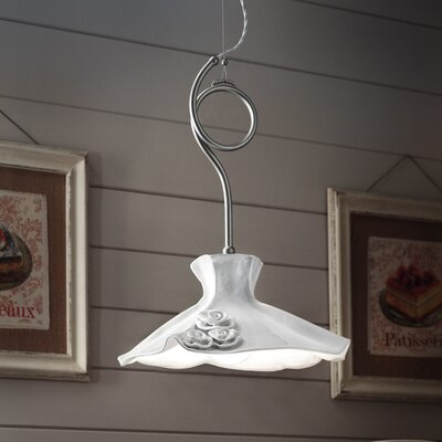 Ferroluce Lecco 1 Light Bowl Pendant Lamp