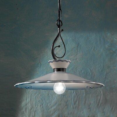 Ferroluce Ravenna 1 Light Bowl Pendant Lamp