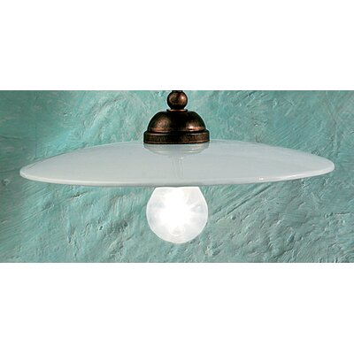 Ferroluce Torino 1 Light Bowl Pendant Lamp