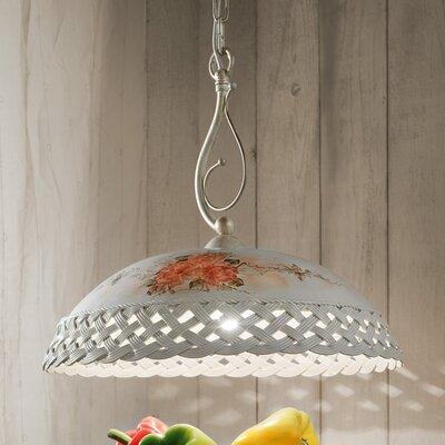 Ferroluce Verona 1 Light Bowl Pendant Lamp