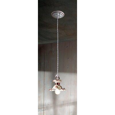 Ferroluce Milano 1 Light Mini Pendant Lamp