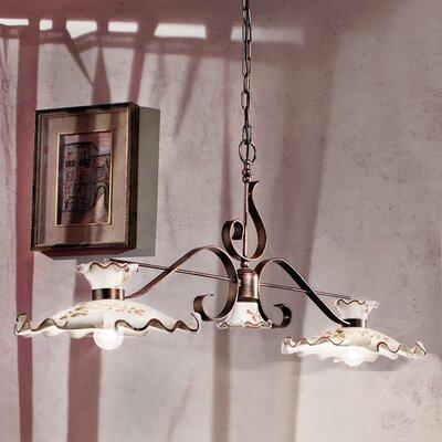 Ferroluce Milano 2 Light Bar Pendant Lamp