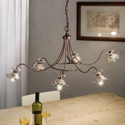 Ferroluce Milano 6 Light Chandelier