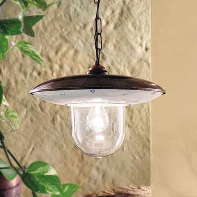 Ferroluce Latina 1 Light Outdoor Pendant Lamp