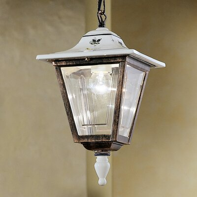 Ferroluce Gorizia 1 Light Outdoor Pendant Lamp