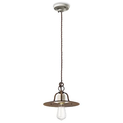 Ferroluce Grunge 1 Light Mini Pendant