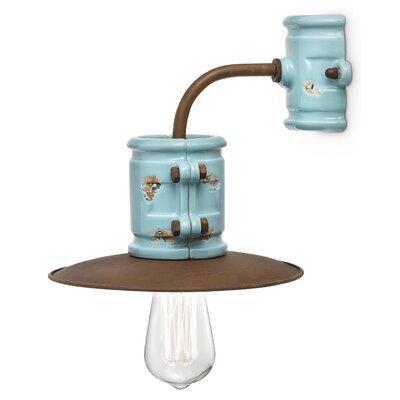 Ferroluce 1 Light Industrial Wall Lamp