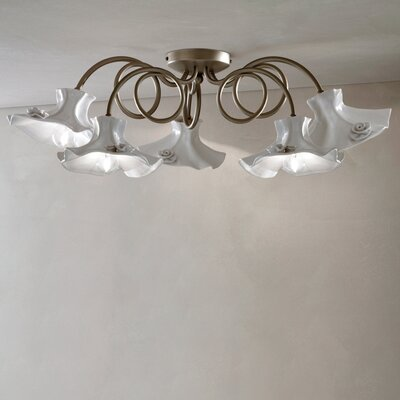 Ferroluce Lecco 5 Light Ceiling Light