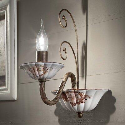 Ferroluce Sassari 1 Light Rich Wall Lamp