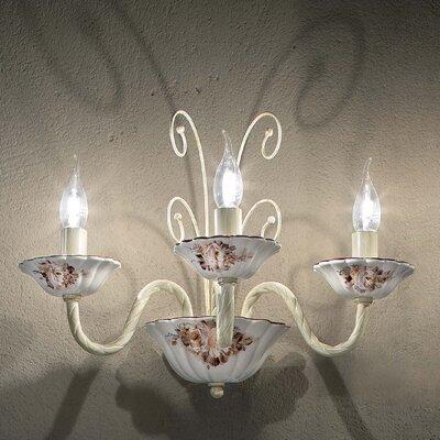 Ferroluce Sassari 3 Light Rich Wall Lamp