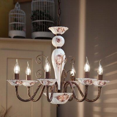 Ferroluce Sassari 6 Light Candle Chandelier