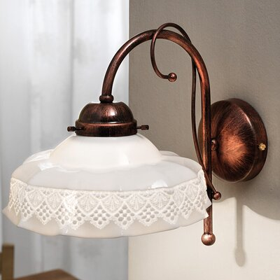 Ferroluce Avellino 1 Light Elegant Wall Lamp