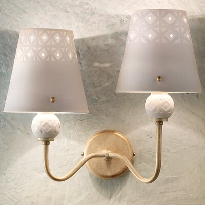Ferroluce Viterbo 2 Light Wall Lamp