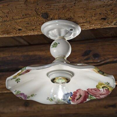 Ferroluce Sirmione 1 Light Semi Flush Ceiling