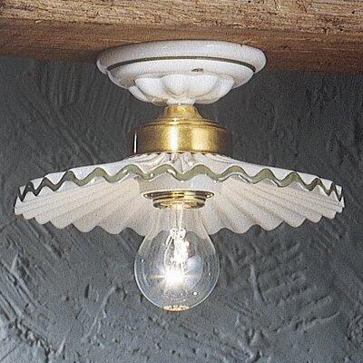 Ferroluce L'aquila 1 Light Semi-Flush Ceiling Light
