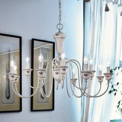 Ferroluce Sanremo 12 Light Chandelier in White