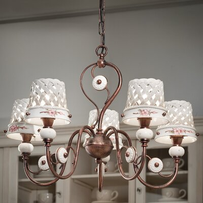 Ferroluce Verona 5 Light Chandelier