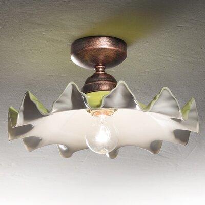 Ferroluce Padova 1 Light Semi Flush Ceiling Light