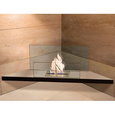 Radius Design Corner Flame Wall Mount Ethanol Fireplace