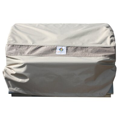 "Maddison BBQ Hood Gas Grill Cover Fits up to 33"" Color: Swiss Coffee"