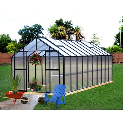 Monticello 8 Ft. W x 20 Ft. D Greenhouse Frame Finish: Black