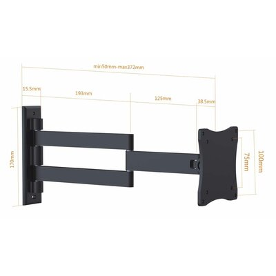 "Vesa Tilt / Swivel Wall Mount for 13-27"" TV Screen"