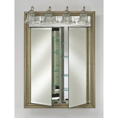 "Signature 24"" x 34"" Recessed Medicine Cabinet with Lighting Finish: Arlington Pickled"