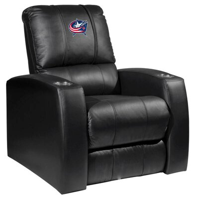 HT Leather Manual Recliner NHL Team: Columbus Blue Jackets
