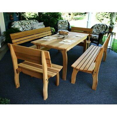 Creekvine Designs Cedar Chickadee 5 Piece Dining Set