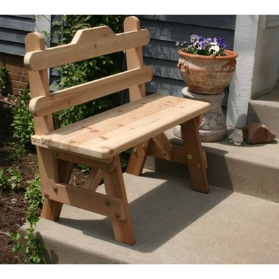 Cedar Tab Back Bench Size: 4', Color: Cedar Stain/Sealer