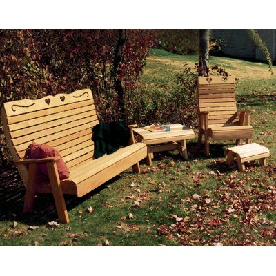 Cedar 3 Piece Sofa Set Color: No Finish