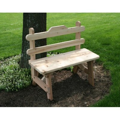 Cedar Tab Back Bench Size: 4', Color: No Finish