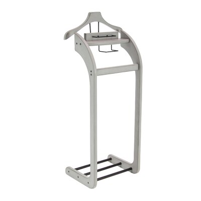 Forbes Contemporary Curved Valet Stand Color: Gray
