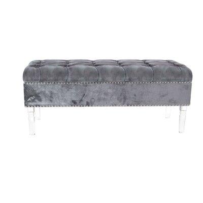 Oskar Modern Tufted Upholstered Bench Upholstery: Gray
