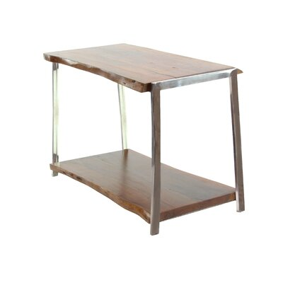 Alleyton Rustic Console Table with Bottom Shelf