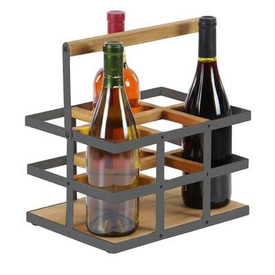 Campa Modern 6-Bottle Tabletop Wine Bottle Rack Finish: Brown