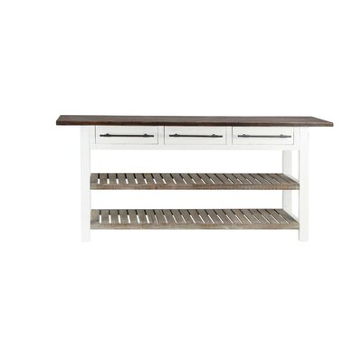 Eatontown Traditional 3-Drawer Console Table with Slatted Shelves