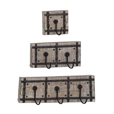 Casula 3 Piece Wall Mounted Coat Rack Set