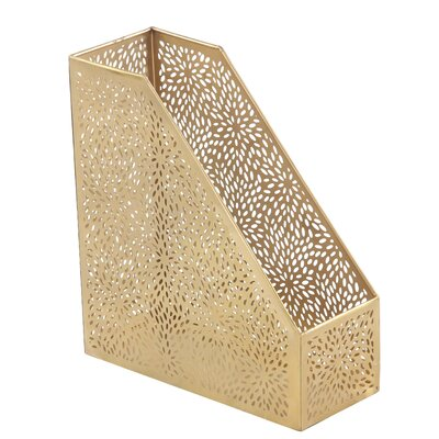 Mataponi Modern Perforated Design Open Box Magazine Rack