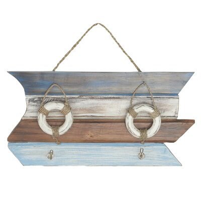Nix Coastal-Inspired Lifebuoy Wall Mounted Coat Rack