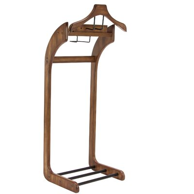 Forbes Contemporary Curved Valet Stand Color: Brown