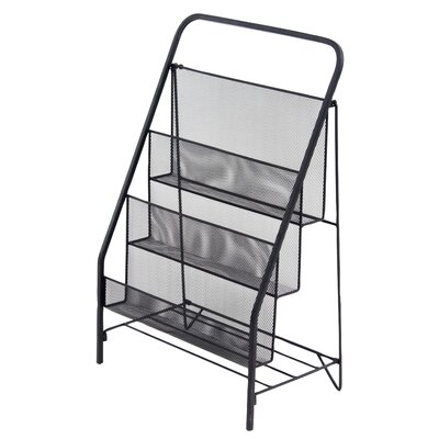 Industrial 3-Tiered Magazine Rack