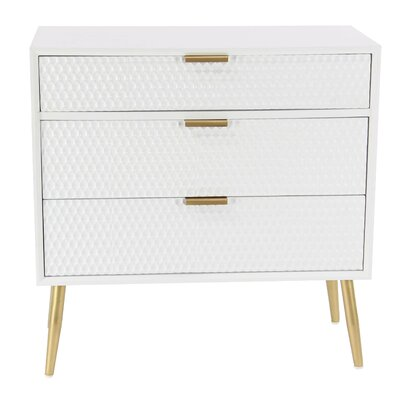 Dimitris Modern 3 Drawer Accent Chest