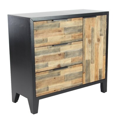 Alsace Modern Weave-Style 2 Door Accent Cabinet