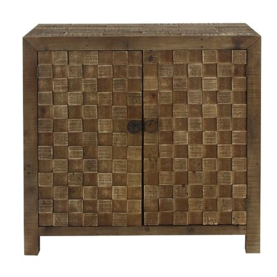 Chryses Rustic Checkered 2 Door Accent Cabinet