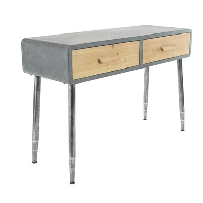 Vanarsdale Modern Rectangular 2-Drawer Console Table